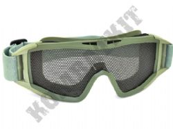 Airsoft Goggles Large metal mesh safety glasses eye protection Army Green no fog